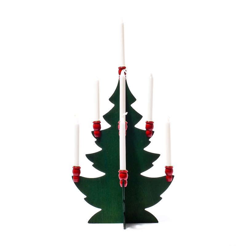 Christmas Tree Candle Holder.Candle Holder Christmas Tree 9 Candles